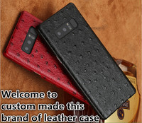 LJ07 Genuine Leather Hard Half Wrapped Case For Samsung Galaxy Note 8 Phone Case For Samsung Galaxy Note 8 Back Cover Case