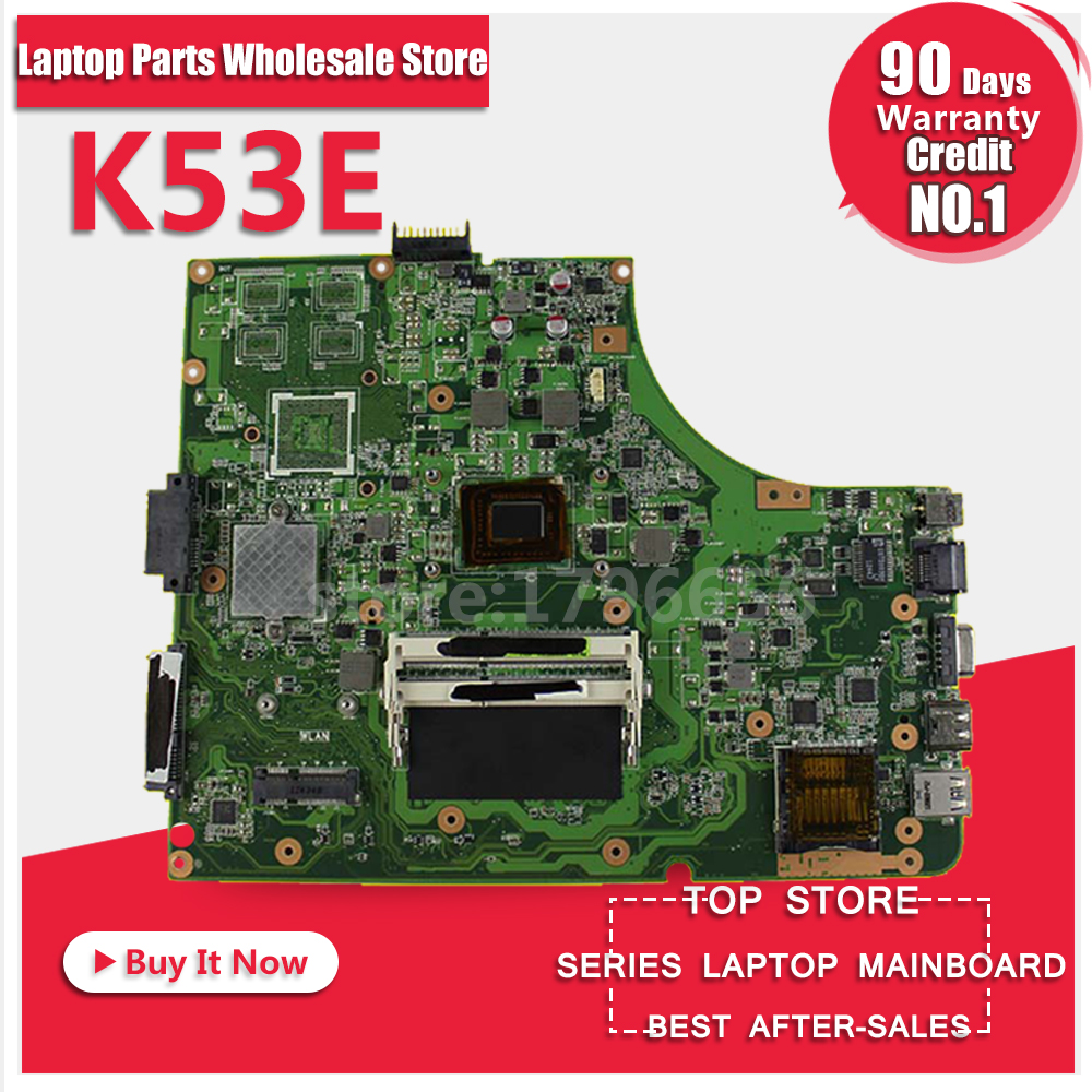 OriginalK53SD REV:6.0 Laptop Motherboard with i3 CPU USB3.0 Mianboard for Asus K53SD Non-Integrated graphics DDR3 Mianboard ytai k55vd rev 3 1 mianboard for asus k55vd k55a laptop motherboard hm76 integrated graphic card 2 ddr3 usb3 0 mainboard