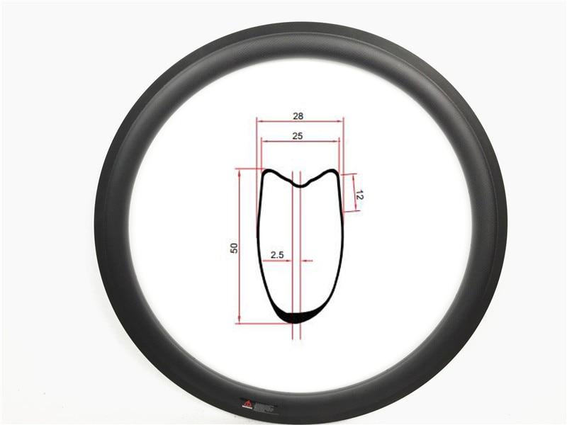 新しい非対称 45 ミリメートル 50 ミリメートル 55 ミリメートル 700c カーボン道路管状自転車ホイールリム非対称バイクリム 25 ミリメートル幅 U 形状 2.5 ミリメートルオフセット  グループ上の スポーツ & エンターテイメント からの 自転車の車輪 の中 1