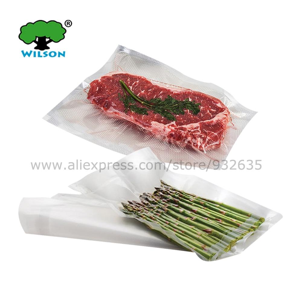 Middle Size (50 - 500 pcs) FoodVacBags Food Storage Vacuum Sealer Bags One Side Embossed Vacuum bags PA/PE 5.1 mils Open17-25 cm