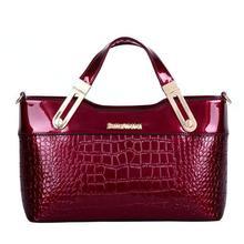 European Classic Patent handbags,Casual luxury crocodile women messenger bags,elegant sexy women bag shoulder bags free shipping