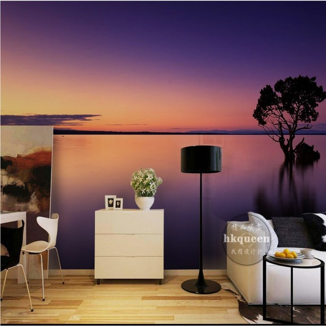 bedroom aesthetic fantasy beach living landscape sunset wall mural zoom decoration background wallpapers mouse