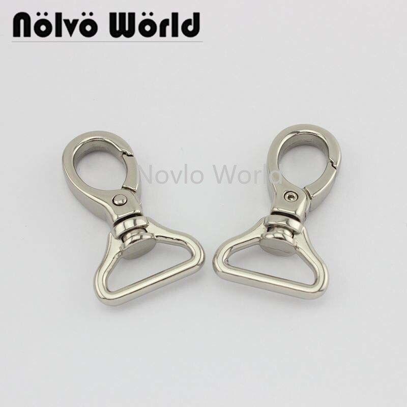 Wholesale 500pcs, 5 Colors Accept Mix Color, 48*20mm 3/4 Inch Metal Trigger Snap Hook Handbag Purse Adjusted Swivel Clasp Hook