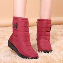Women Winter Waterproof Snow  Boots Plush Warm Casual Leisure Outdoor Mid Calf for Ladies