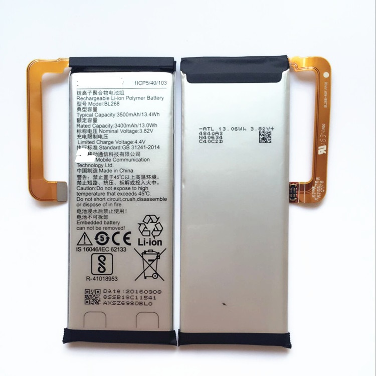 hot New 100% Original Replacement Battery BL268 3500mAh For lenovo ZUK Z2 Smart Mobile Phone With Tracking Number image