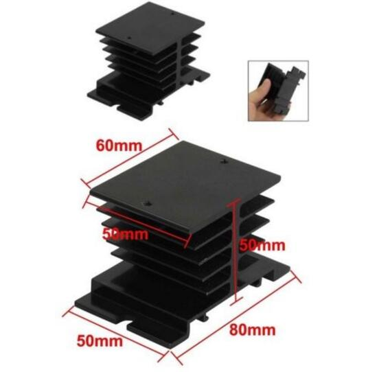 1pcs Black Single Phase Solid State Relay SSR Aluminum Heat Sink Dissipation Radiator Newest,,Suitable for 10A-40A relay 1pc single phase solid state relay ssr aluminum heat sink dissipation radiator newest suitable for 10a 40a relay