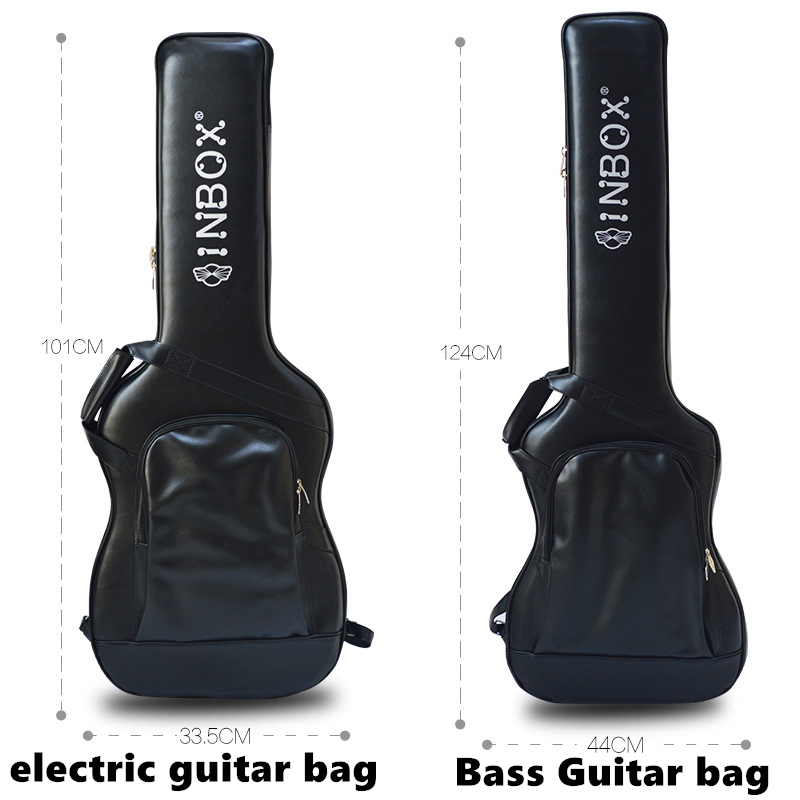 Высококачественная кожаная сумка для акустической/классической/фольклорной/электрической гитары сумка для бас гитары аксессуары для гитары запчасти - 2