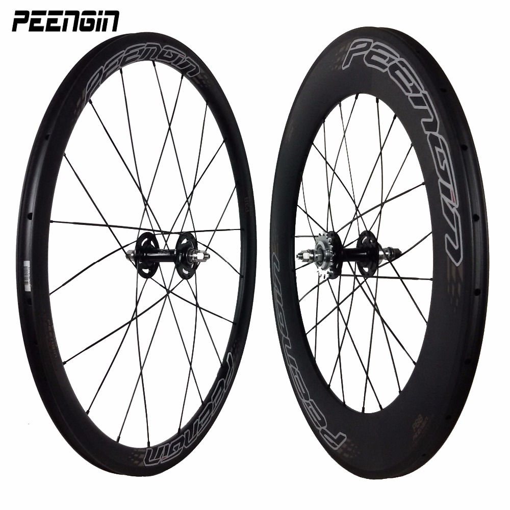 Carbon fixed <font><b>bike</b></font> gear bicycle <font><b>fixie</b></font> <font><b>wheels</b></font> 23mm Wheelset 38mm Front 88mm Rear Clincher hub accessory online popular sell to USA image