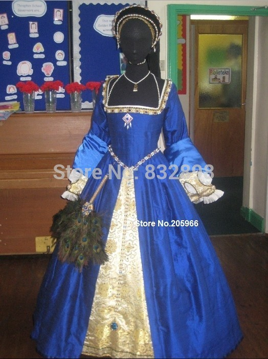 18th Century Court Dress Style Nobility Collection Beaded Tudor Gown ...