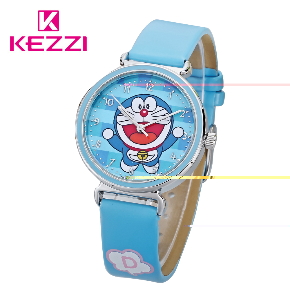 KEZZI New Cartoon Children Watch Girl boy  Watches Fashion Girl Kids Student Cute Leather Sports Analog Wrist Watches cartoon children watches fashion girl bear pattern kids waterproof watch cute student leather strap wrist watch relogio