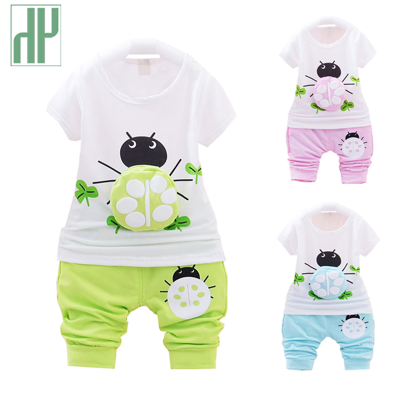 Baby boy clothes short sleeved baby girl summer clothes set fashion t-shirt+pants baby tracksuit newborn infant two piece set