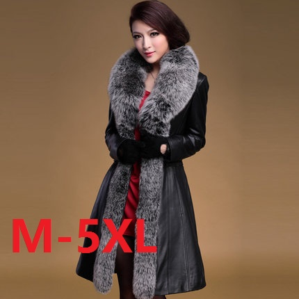 Plus size M -5XL 2016 Winter Jacket Women Leather Coats clothing fox fur genuine sheepskin leather down coat Parka Down Outwear rabbit fur hat fashion thick knitted winter hats for women outdoor casual warm cap men wool skullies beanies