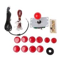 DIY Handle 8 Way Joystick 5 Pin 24 30mm Push Button USB Encoder Kit PC Arcade