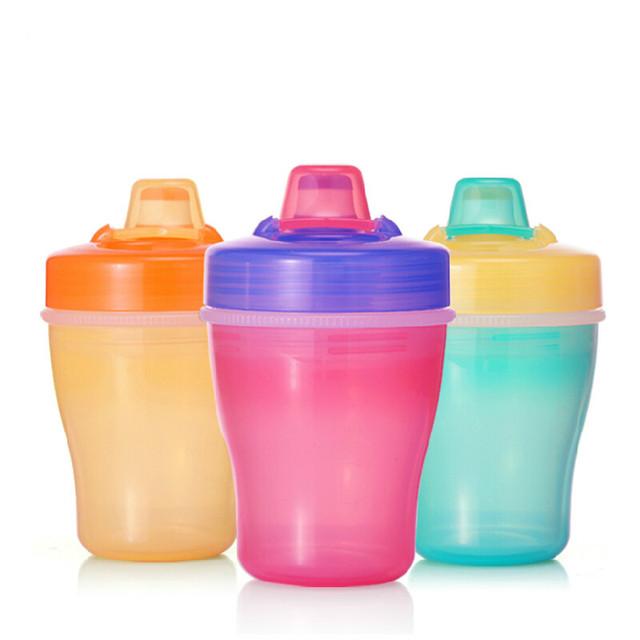 Promoção Crianças de Alta Qualidade À Prova de Vazamento de Palha CupTraining Beber Água Isolamento Térmico Camada Dupla copo 150 ML