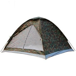 Camping Tent Single Layer Camouflage Tent For 3-4 Person