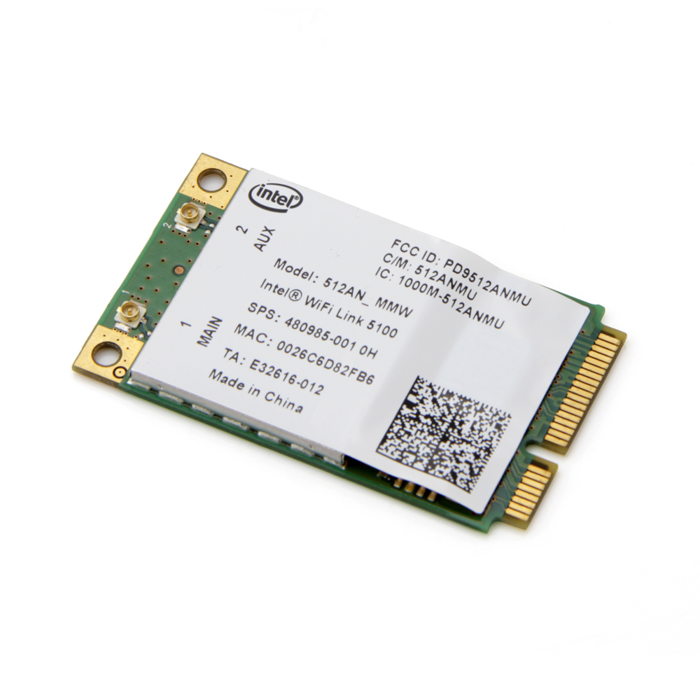 Dual Band Laptop Wlan For Intel 512AN_MMW WiFi Link 5100 300Mbps 802.11a/g/n Wireless WiFi Mini PCI-E Card 2.4Ghz 5Ghz