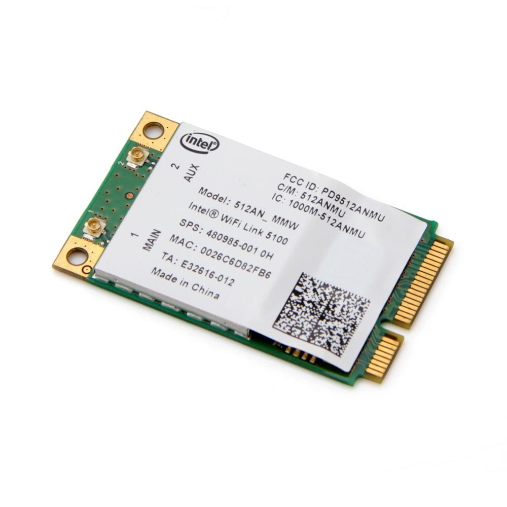 Dual Band Laptop Wlan For Intel 512AN_MMW WiFi Link 5100 300Mbps 802.11a/g/n Wireless WiFi Mini PCI-E Card 2.4Ghz 5Ghz