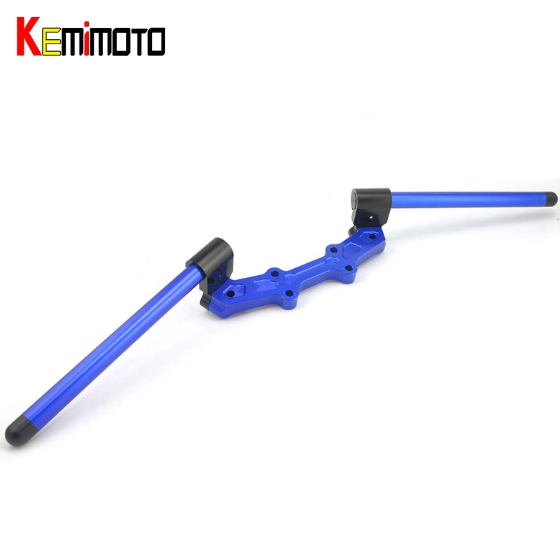 KEMiMOTO MT 07 MT07 Motorcycle Accessories Adjustable Handlebars Handle Bar With Clamp Kit For YAMAHA MT-07 FZ-07 2014 2015 2016 titanium cnc aluminum racing adjustable rearset foot pegs rear sets for yamaha mt 07 fz 07 mt07 fz07 2013 2014 2015 2016