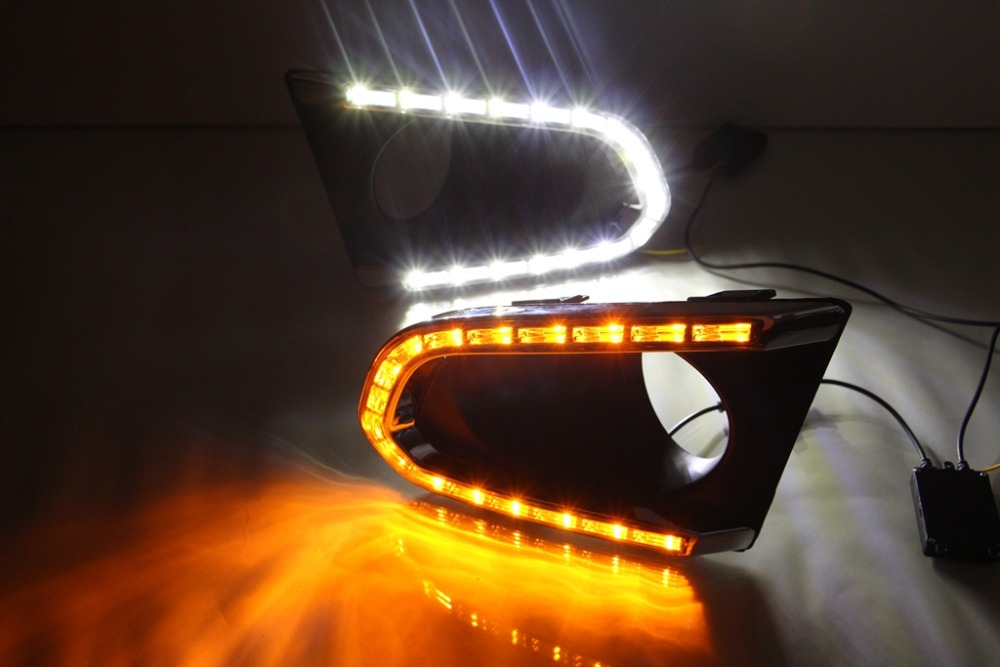 LED DRL daytime running light for chevrolet trax track 2014-5 top quality with yellow turn light function waterproof exactly fit top quality led drl daytime running light for chevrolet chevy cruze 2009 2013 guiding light design super bright