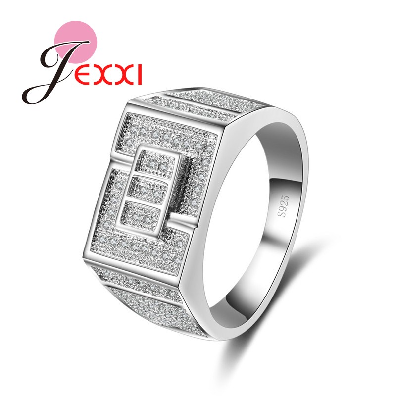 JEXXI 925 Sterling Silver Wedding Engagement Women/Girls Finger Rings Wholesale Price Special Design Bridal Jewerly CZ Crystal