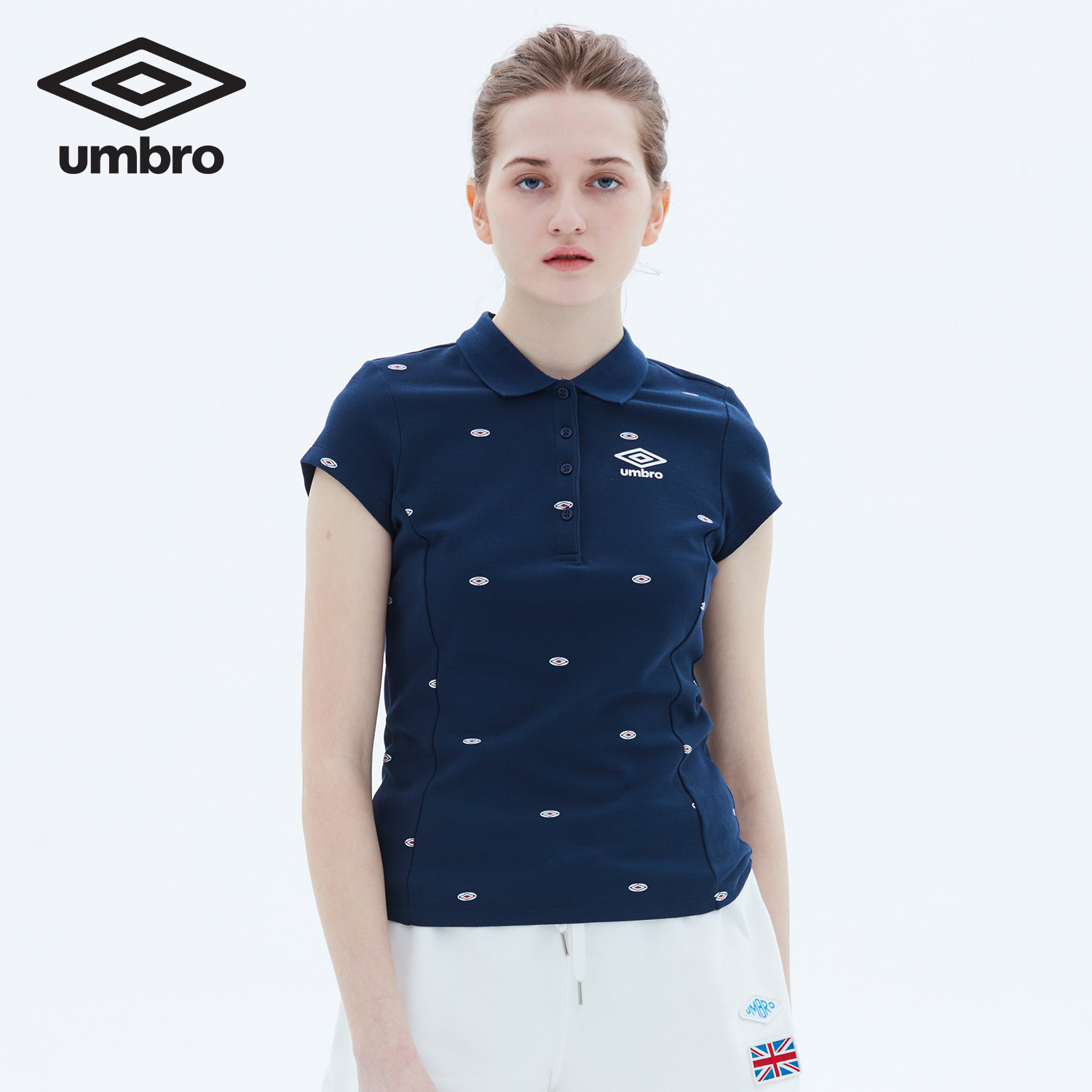 Umbro Women New Summer Short Sleeve Polo Shirt Sports T-shirt Sportswear Tracksuit T-shirt Tee Tops UCC63102