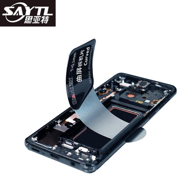 SAYTL Herramienta de apertura de pantalla LCD de tarjeta de acero inoxidable, herramienta de reparación de desmontaje de teléfono móvil para reparación de teléfonos inteligentes
