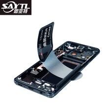SAYTL paslanmaz çelik kart LCD ekran açılış aracı cep telefonu sökün onarım aracı akıllı telefon tamir için