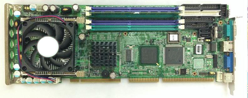 Фото PCA-6187 REV.A2 PCA-6187 industrial motherboard tested good board with fan cpu and ram