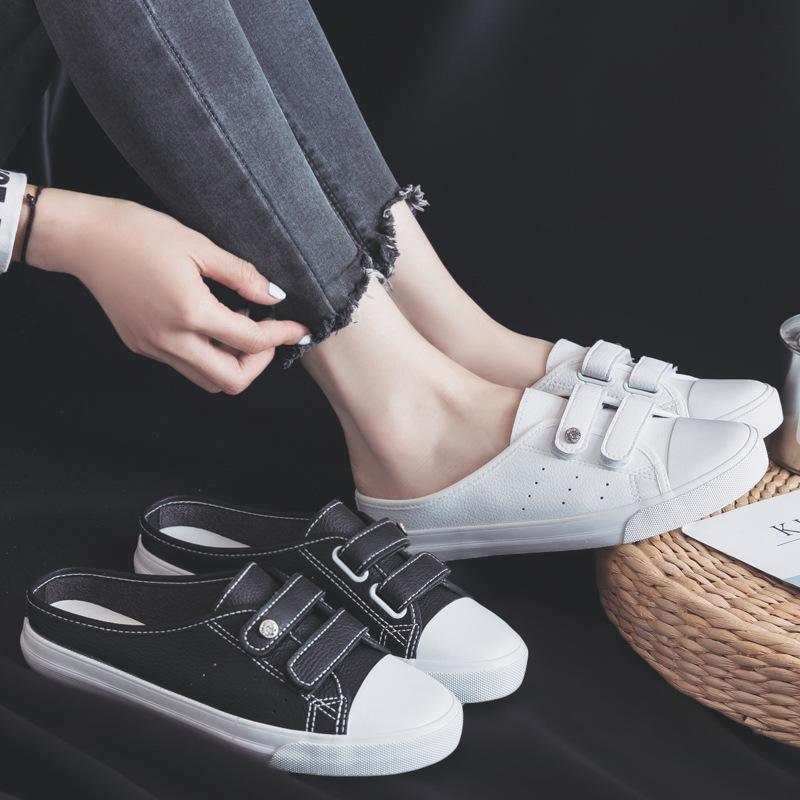 2018 summer new fashion shoes woman casual solid color microfiber shallow women casual white shoes slippers sneakers breathable