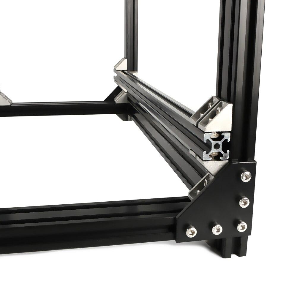 Cadre d'extrusion en aluminium pour imprimante BLV mgn Cube 3D Kit complet écrous support à vis coin pour bricolage CR10 Z hauteur 365mm - 5