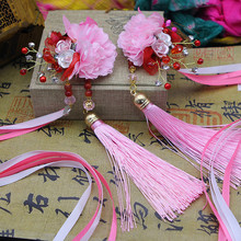 2 styles vintage flower hairclip with tassels hair ornaments accessories for princess party supplies fairy wear