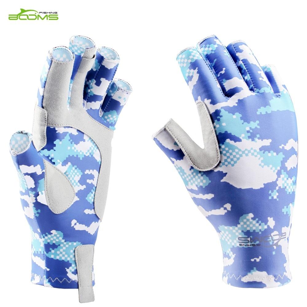 1 Paar Unisex halbe Fingerhandschuhe Anti UV Sonnenschutz Fly Fishing Sport
