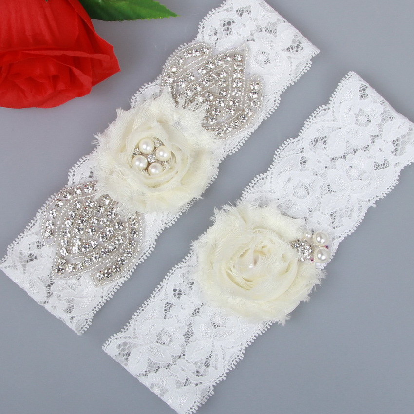 Blingbling 1Pair Bridal Garter Belt Wedding Garter Vintage