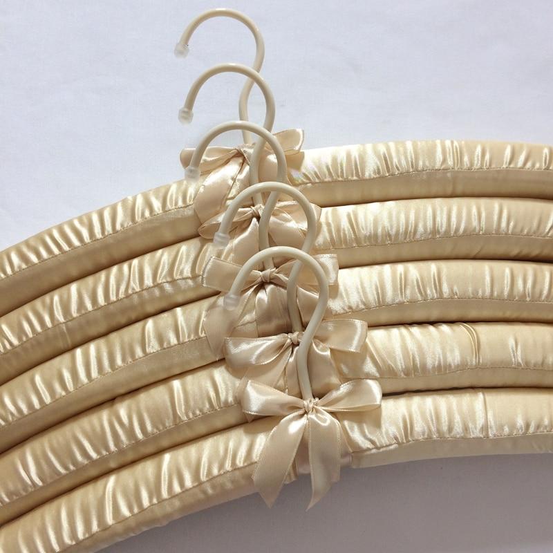 5 stks / partij 40 cm zijden doek hanger stof kleding spons rekken - Home opslag en organisatie - Foto 4