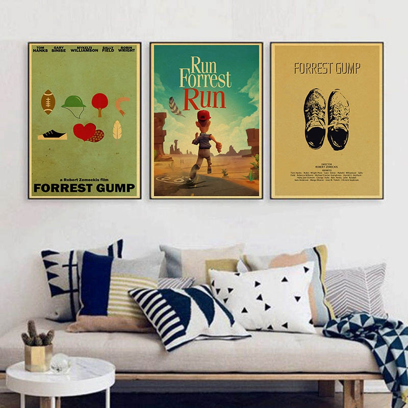 Forrest Gump Tom Hanks Robin Wright Vintage Paper Poster Wall Painting Home Decoration 42X30 CM 30X21 CM image