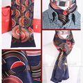 Marca de moda Mens 100% Silk Scarf Longo/Gravata Scarives Camada Dupla _ _ Para A Primavera Outono Inverno