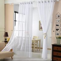 White gauze shade of finished cloth curtain stripes not pervious to light the ground wire netting the balcony