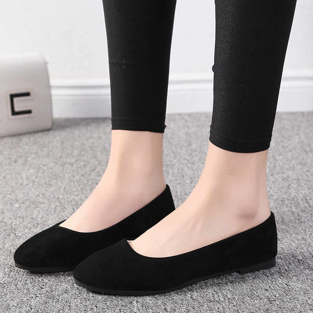 Women Flats Shoes Soft Suede Loafers Shoes Plus Size 35-43 Women Flats Slip on Flat Shoes Loafers Faux Suede Ballet Shoes #20