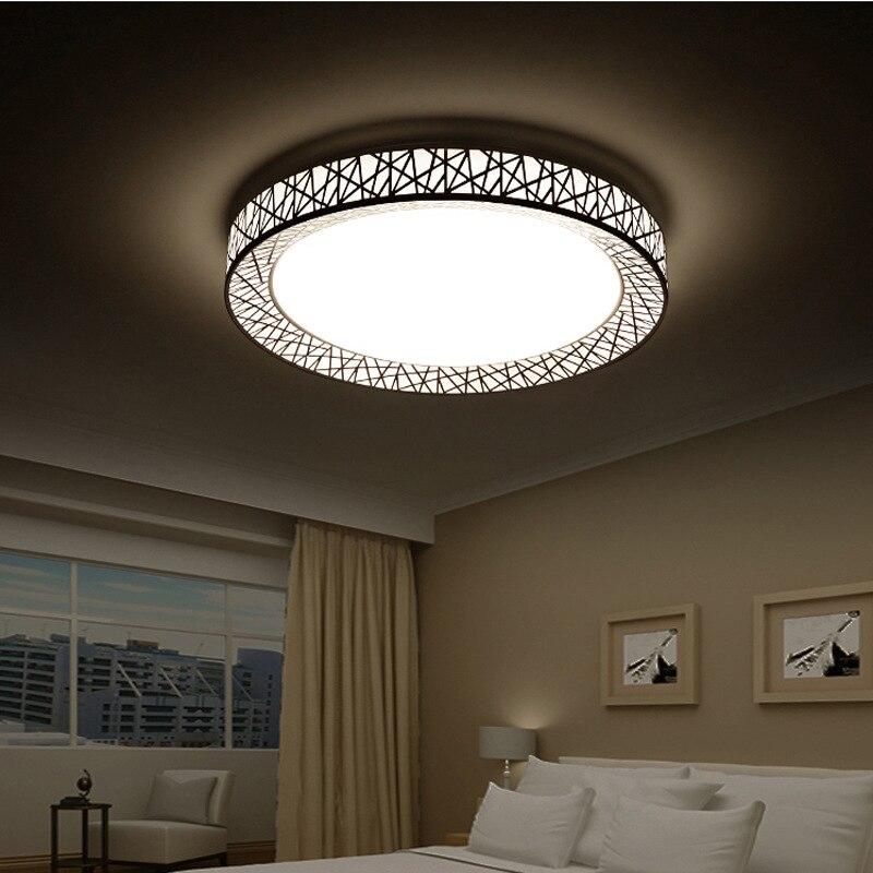 acheter moderne t l commande led carr rond plafonnier shell kit plafond. Black Bedroom Furniture Sets. Home Design Ideas