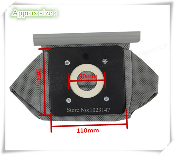 Free Shipping ! Vacuum Cleaner Bags 11cm*10cm Non-woven Bag Dust Filter Bags for d957 d-957,Electrolux etc.