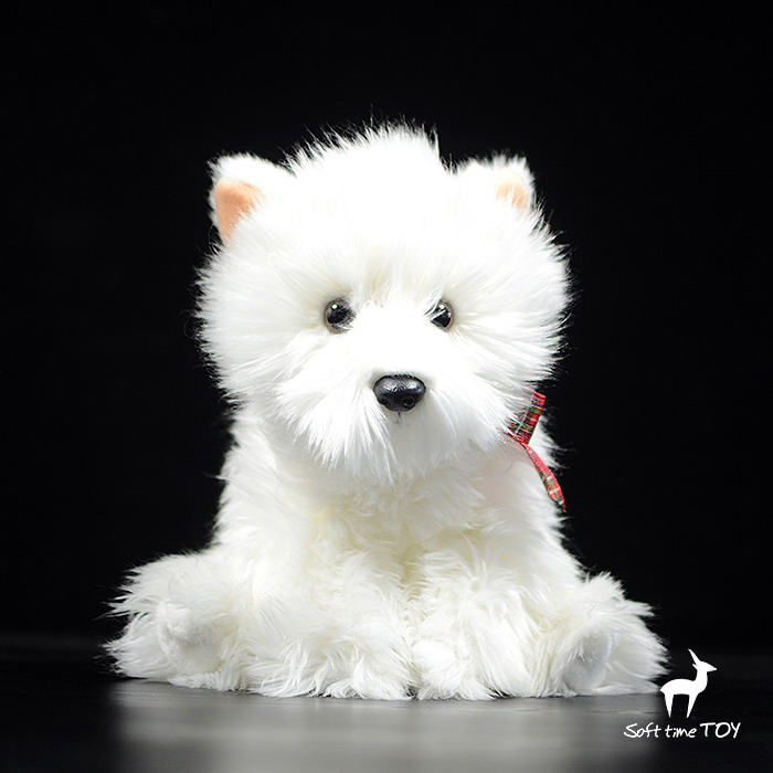 Children's toy plush West Highland White Terrier Dog Doll toys Baby Simulation Animals gifts simulation rare birds puffin doll plush toy wild animals dolls ornaments children s toys gifts