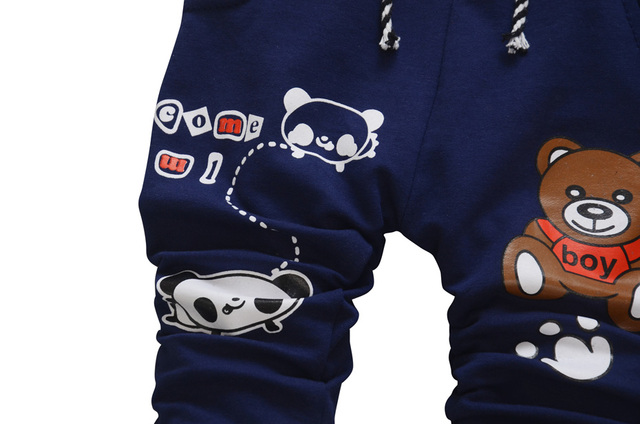 Cartoon Bear Baby Boy Pants