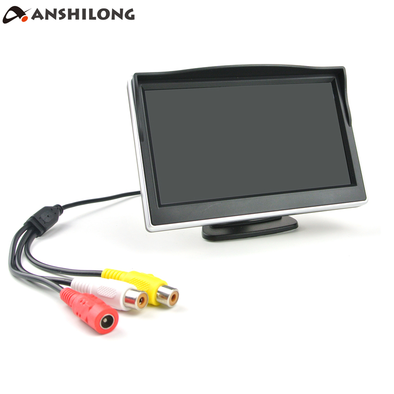 ANSHILONG 5 TFT LCD HD Car Monitor 800 x 480 Resolution 2CH Video Input For DVD Player Rear View Camera high resolution 5 colorful screen tft lcd car rearview mirror monitor 800 480 resolution dc 12v car monitor for dvd camera vcr
