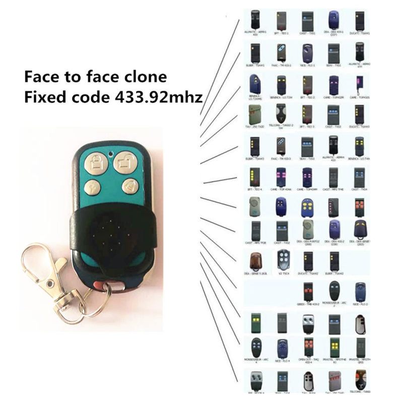 Face to Face clone 433.92mhz fixed code <font><b>remote</b></font> control key fob duplicator <font><b>for</b></font> garage door electric <font><b>gates</b></font> opener with battery image