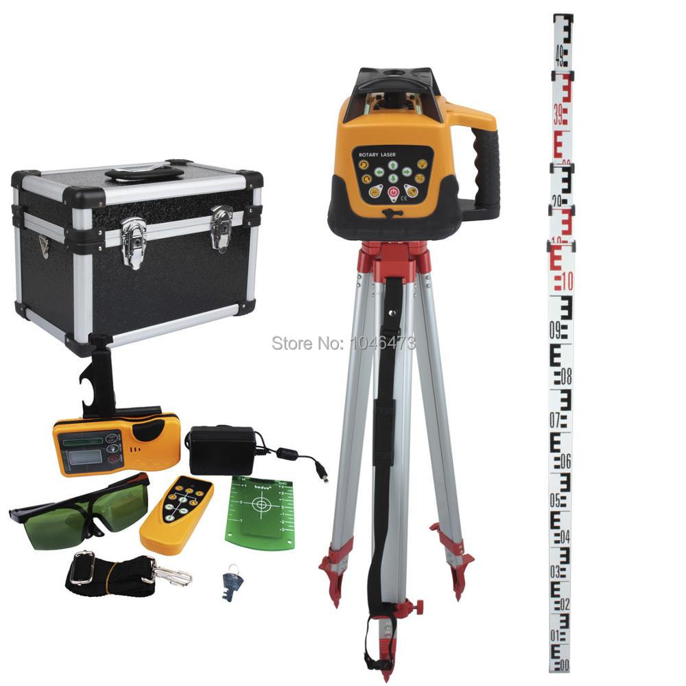 (Ship from EU) Self-leveling Rotary 500M Green Beam Laser Level Automatic Leveling Waterproof + Tripod + staff thyssen parts leveling sensor yg 39g1k door zone switch leveling photoelectric sensors