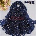 170 * 60 см женщины зима шотландка шарф шелк шарф горошек бархат шарф шифон богема шарф