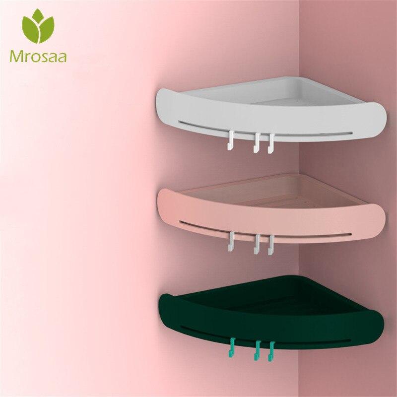 Nordic ABS Corner Shelf Bathroom Shelf Organizer Shower Caddy Bathroom Storage Box Wall Holder Shampoo Holder Wall Hanging Case