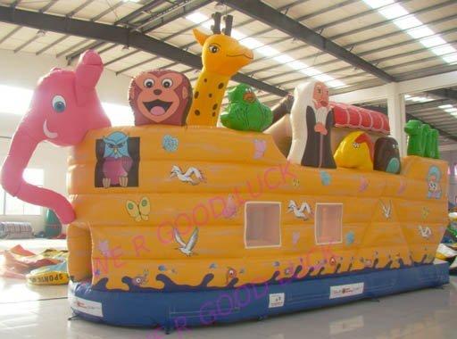 outdoor inflatable funcity, jumping bounce,Noah's boat + repair kit, retail&wholesale , best seller