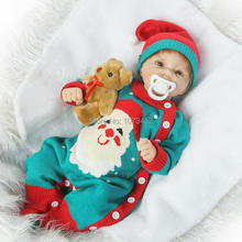 20INCH doll reborn silicone reborn baby dolls babies brinquedos newborn bebe lifelike juguetes early education toy gift for kids