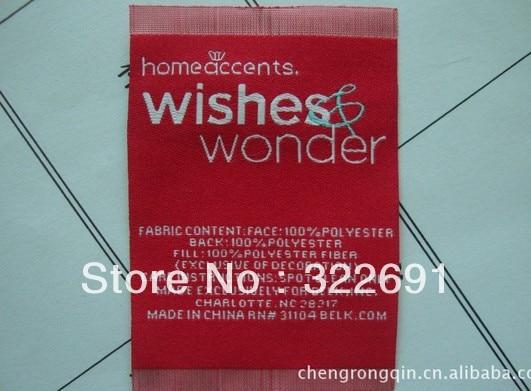 2013 бренд этикетки, тканые этикетки бренда, сбоку раза тканые этикетки